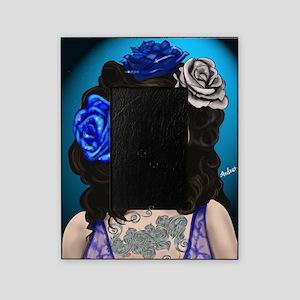 Blue Rose Muertos Pin-up Portrait Picture Frame