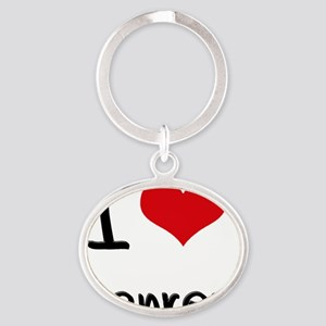 I Love Genres Oval Keychain