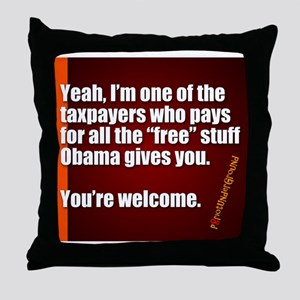 Youre Welcome Throw Pillow