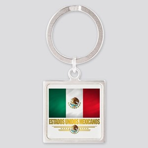 Flag of Mexico Square Keychain