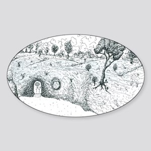 House in the hill Sticker (Oval)