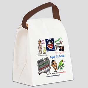 Collage Canvas Lunch Bag