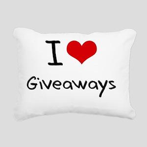I Love Giveaways Rectangular Canvas Pillow