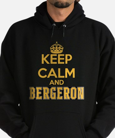 Keep Calm and Bergeron Tee Hoodie (dark)