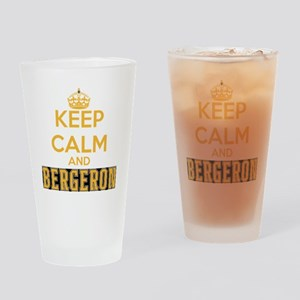 Keep Calm and Bergeron Tee Drinking Glass