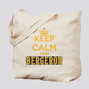 Keep Calm and Bergeron Tee Tote Bag