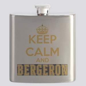 Keep Calm and Bergeron Tee Flask