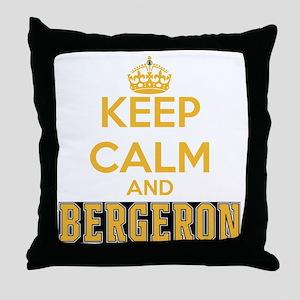 Keep Calm and Bergeron Tee Throw Pillow
