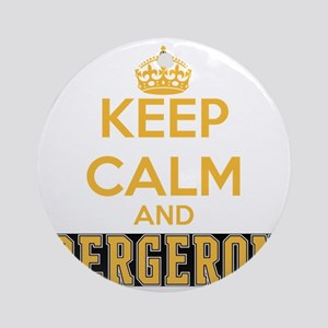 Keep Calm and Bergeron Tee Round Ornament