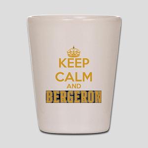 Keep Calm and Bergeron Tee Shot Glass