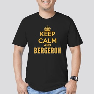 Keep Calm and Bergeron Men's Fitted T-Shirt (dark)