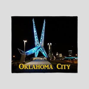 OklahomaCity_11x9_CalendarPrint_SkyD Throw Blanket