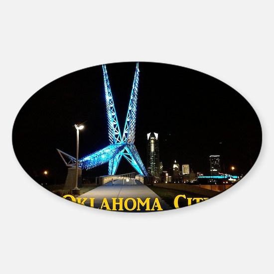 OklahomaCity_11x9_CalendarPrint_Sky Sticker (Oval)
