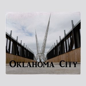 OklahomaCity_18.8x12.6_SkyDanceBridg Throw Blanket