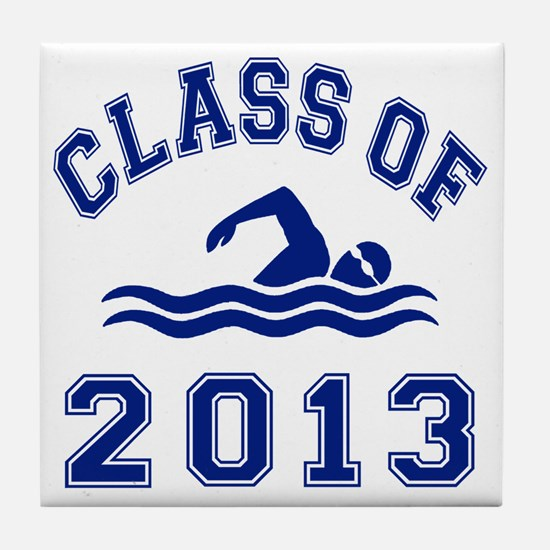 Class Of 2013 Swimming Tile Coaster