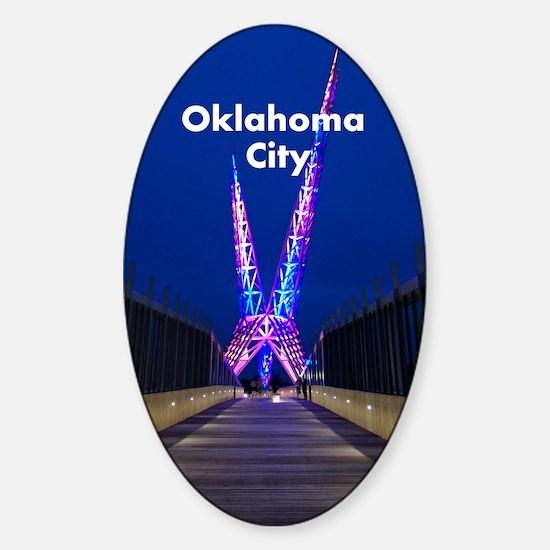 OklahomaCity_5.415x7.9688_iPadSwitc Sticker (Oval)
