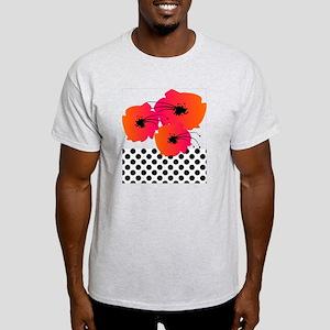 Polka dots and Fuschia flower Duvet Light T-Shirt