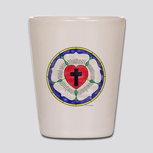Luther Seal Stained Glass Motif Shot Glass