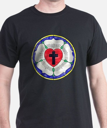 Luther Seal Stained Glass Motif T-Shirt