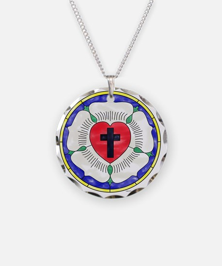 Luther Seal Stained Glass Mo Necklace Circle Charm