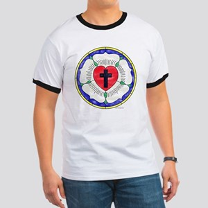 Luther Seal Stained Glass Motif Ringer T