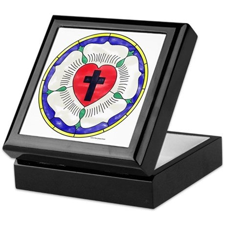 Luther Seal Stained Glass Motif Keepsake Box