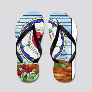 Luther Seal Stained Glass Window Flip Flops