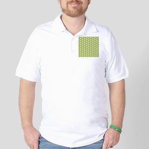 Deer Stag Pattern on Green. Golf Shirt