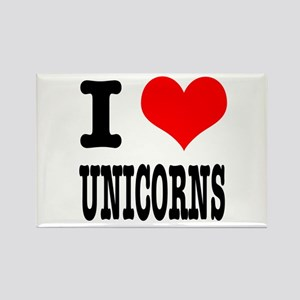 I Heart (Love) Unicorns Rectangle Magnet