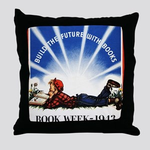 1943 Childrens Book Week Throw Pillow