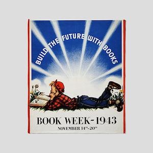 1943 Childrens Book Week Throw Blanket