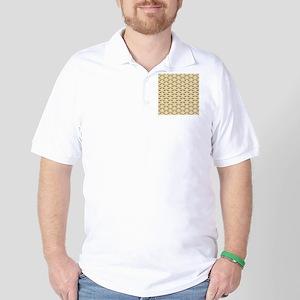 Deer Stag Pattern on Beige. Golf Shirt