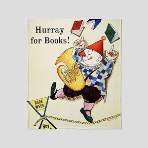 1960 Childrens Book Week Throw Blanket