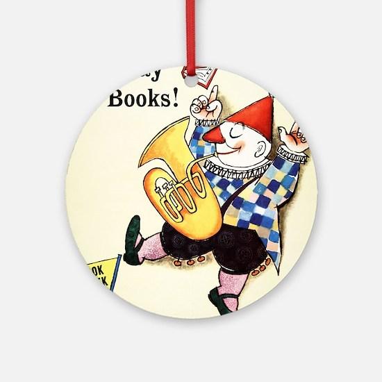 1960 Childrens Book Week Round Ornament