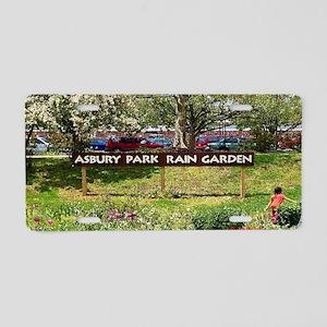 Asbury Park Rain Garden Aluminum License Plate