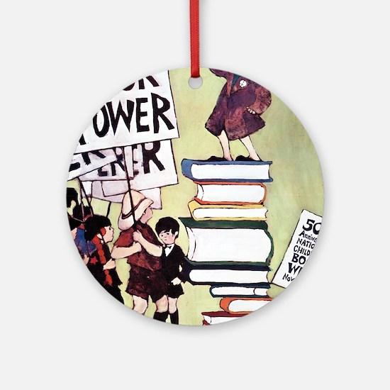 1969 Childrens Book Week Round Ornament