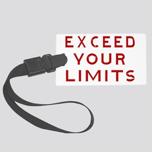 EXCEED YOUR  LIMITS-WHITE Large Luggage Tag