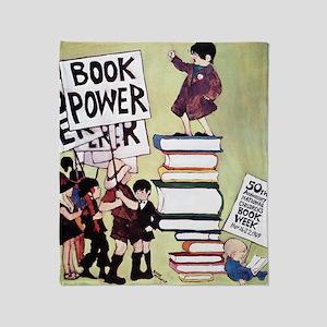 1969 Childrens Book Week Throw Blanket