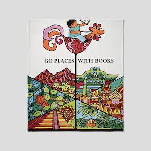 1968 Childrens Book Week Throw Blanket