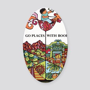 1968 Childrens Book Week Oval Car Magnet