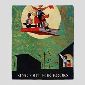 1965 Childrens Book Week Throw Blanket