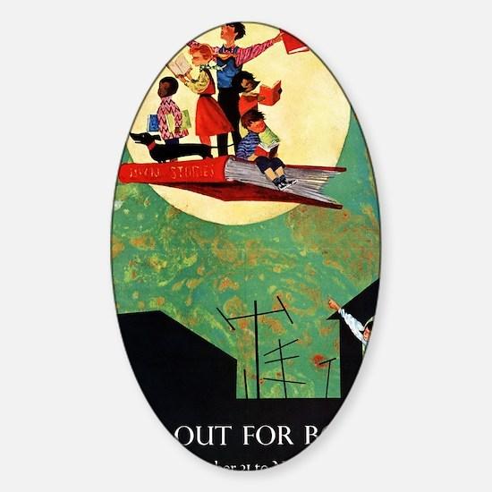 1965 Childrens Book Week Sticker (Oval)