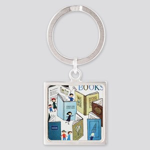 1957 Childrens Book Week Square Keychain