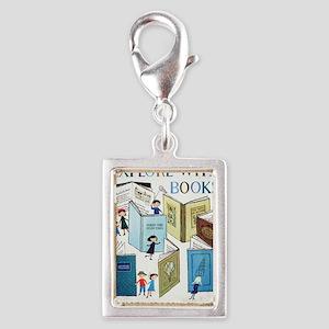1957 Childrens Book Week Silver Portrait Charm