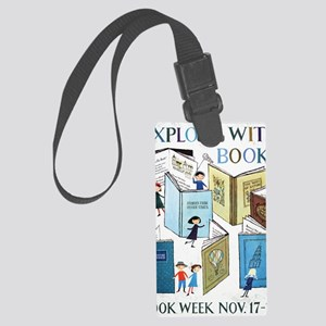 1957 Childrens Book Week Large Luggage Tag