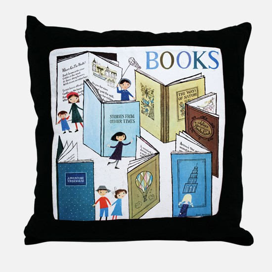 1957 Childrens Book Week Throw Pillow