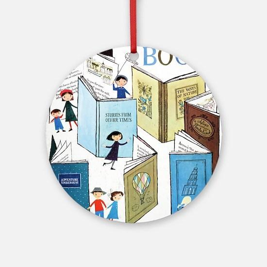 1957 Childrens Book Week Round Ornament