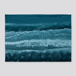 Ocean Waves - Dusk 5'x7'Area Rug