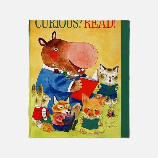 1975 Childrens Book Week Throw Blanket