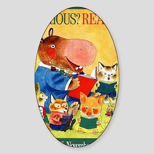 1975 Childrens Book Week Sticker (Oval)